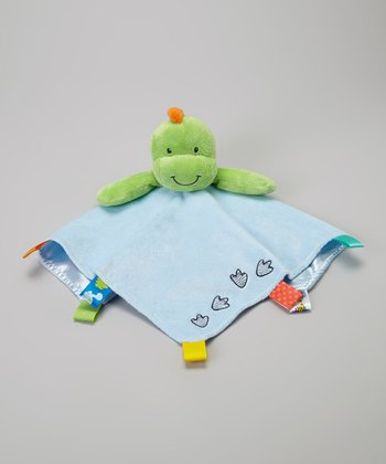 Blue Dino Plush Security Blanket