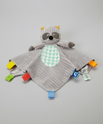 Gray Raccoon Plush Security Blanket