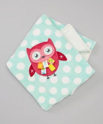 Blue Polka Dot Owl Blanket