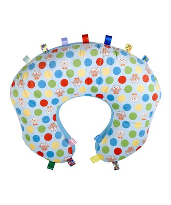 Blue Polka Dot Owl Mombo Nursing Pillow