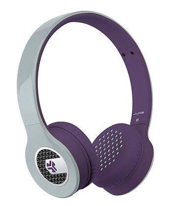 Silver & Purple Supra Headphones