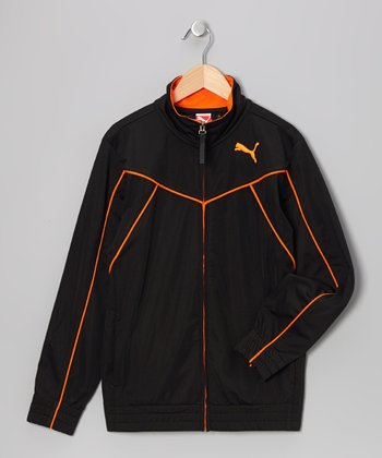 Black Form Stripe Track Jacket - Toddler & Boys