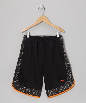 Black Form Stripe Shorts - Toddler & Boys