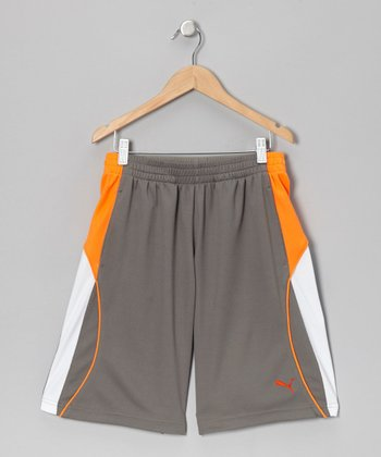 Pewter Slant Shorts - Toddler & Boys