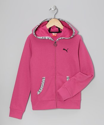 Raspberry Rose French Terry Zip-Up Hoodie - Toddler
