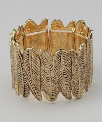 Gold Leaf Stretch Bracelet
