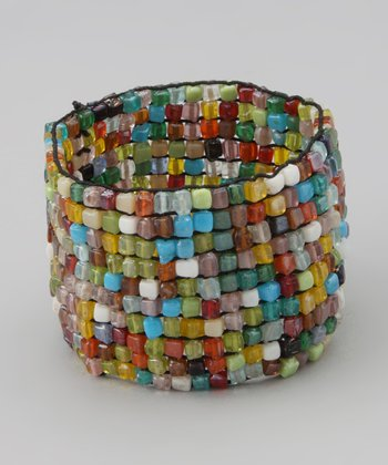Mosaic Square Beaded Stretch Bracelet