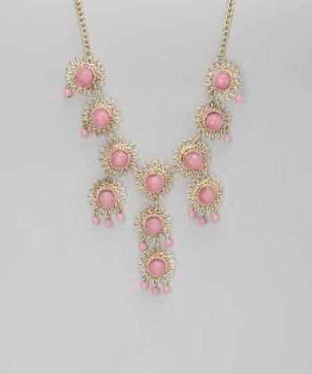 ZAD Zad Pink Bubble Tier Bib Necklace