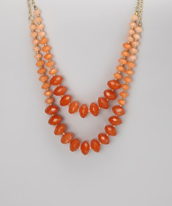 Orange Tonal Bead Necklace