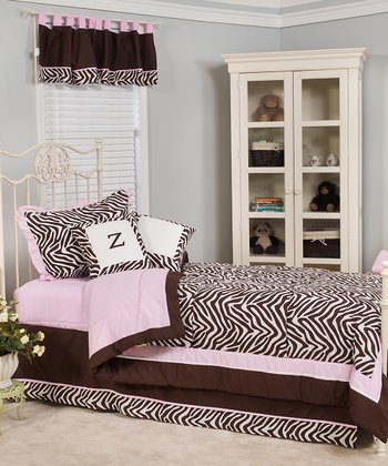 Brown & White Zara Zebra Quilt Set