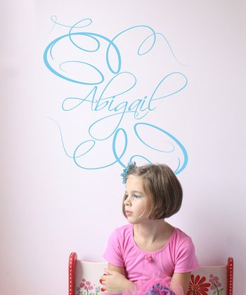Sky Blue Elegance Personalized Wall Decal