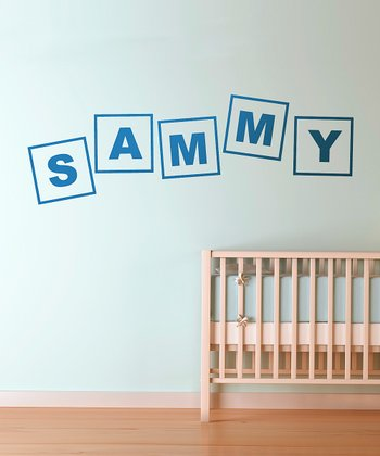 Blue Alphabet Letters Personalized Wall Decal
