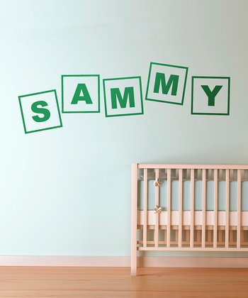 Green Alphabet Letters Personalized Wall Decal