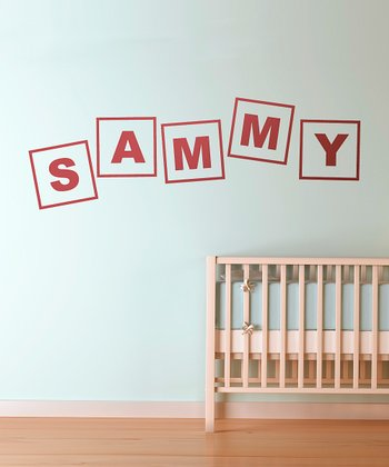 Red Alphabet Letters Personalized Wall Decal