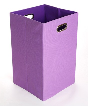 Purple Color Pop Folding Laundry Bin