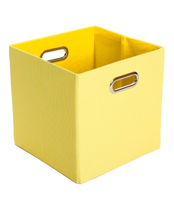 Yellow Sweets Folding Storage Bin