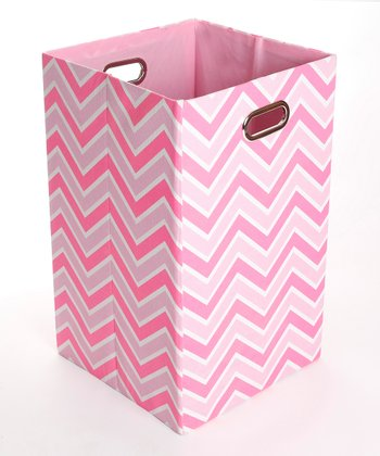 Rose Zigzag Folding Laundry Bin