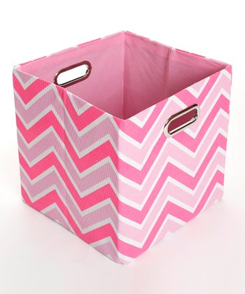 Rose Zigzag Folding Storage Bin