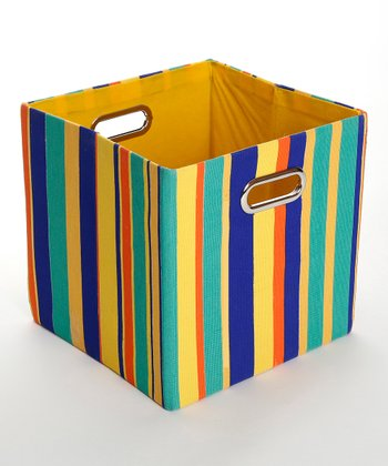 Rusty Stripe Folding Storage Bin