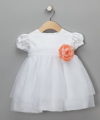 Melon Baby Tulle Flower Girl Dress - Infant