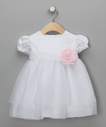 Pink Baby Tulle Flower Girl Dress - Infant