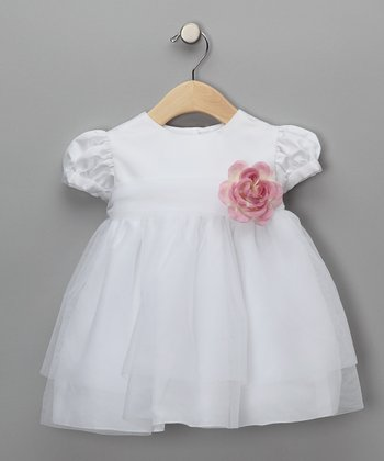 Rose Pink Baby Tulle Flower Girl Dress - Infant