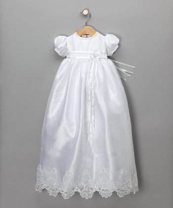 Beaded Organza Christening Gown