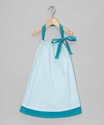 Starlight Blue Halter Swing Dress - Toddler & Girls