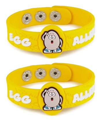 Egg Health Alert Bracelet - Set of Two