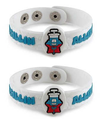 Penicillin Health Alert Bracelet - Set of Two