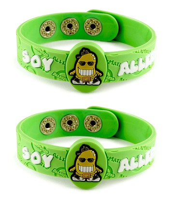 Soy Health Alert Bracelet - Set of Two