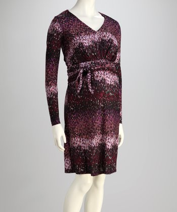 Purple Rain Maternity Dress
