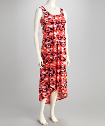 Sunset Maternity Hi-Low Dress