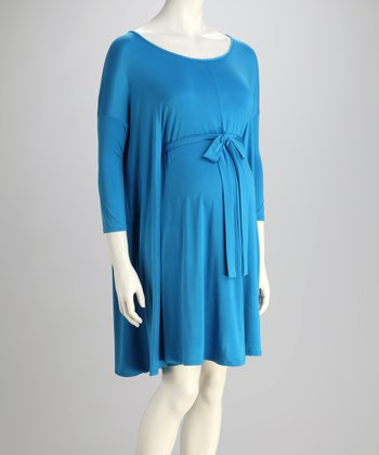 Blue Belle Penelope Maternity Cape-Sleeve Dress