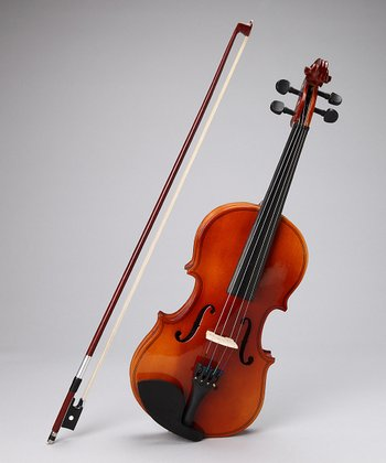 Natural Acoustic-Electric 4/4 Size Violin Set