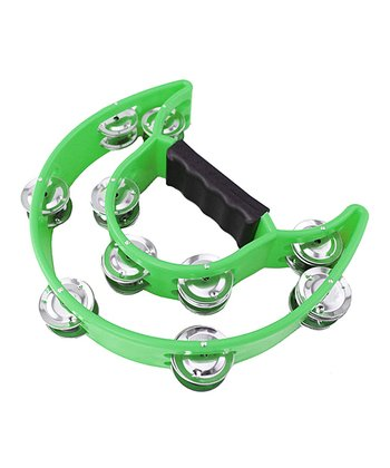 Green EZ Grip Tambourine
