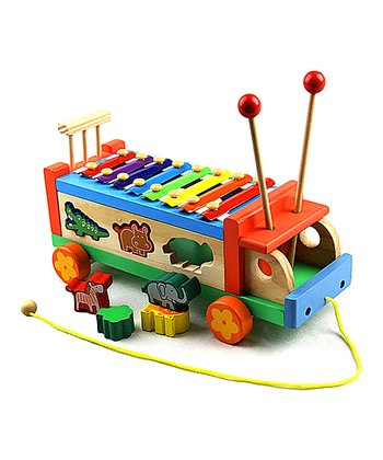 Red Eight-Tone Puzzle Bug Xylophone