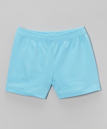 Aqua Rhinestone Undershorts - Toddler & Girls