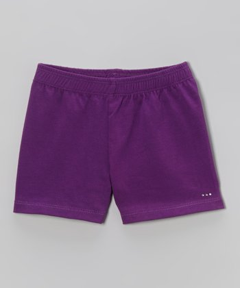 Purple Rhinestone Undershorts - Toddler & Girls
