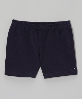 Navy Rhinestone Undershorts - Toddler & Girls