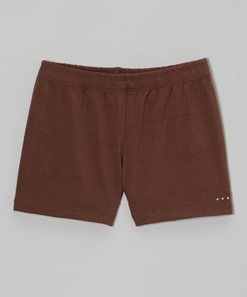 Brown Rhinestone Undershorts - Toddler & Girls