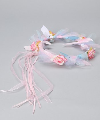 Pastel Flower Ribbon Halo