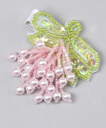 Pink & Green Pearl Clip