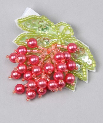 Red & Green Pearl Clip