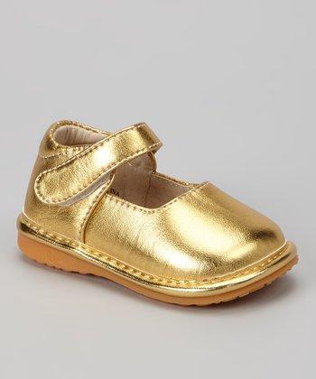 Laniecakes Gold Squeaker Mary Jane