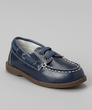 Navy Blue Boat Shoe