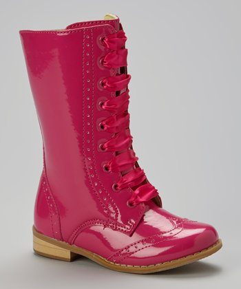 Fuchsia Patent Leather Boot