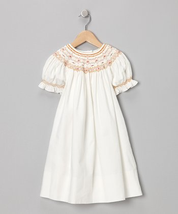 Ivory English Bishop Dress - Toddler