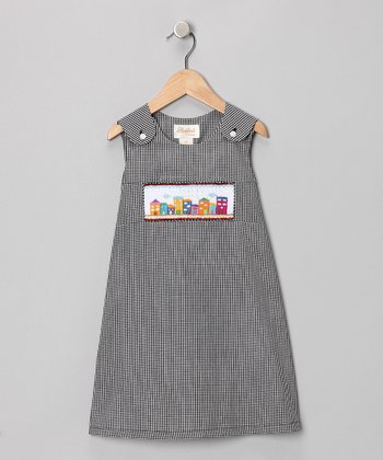 Black Skyline Jumper - Toddler & Girls