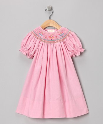 Pink Ballerina Bishop Dress - Infant
